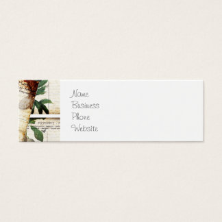 Beautiful Vintage Old Floral Postcards Design Gift Mini Business Card