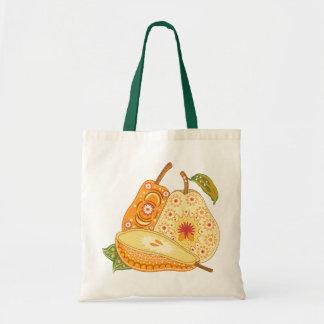 Beautiful Vintage Pears, Green Leaves Bags