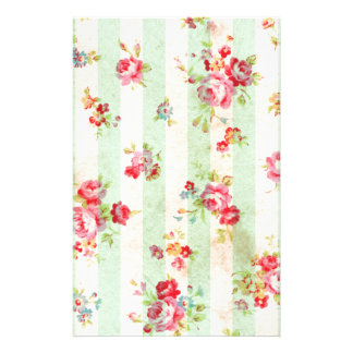 Beautiful vintage roses and other flowers custom stationery