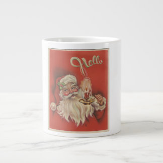 Beautiful Vintage Santa Claus Large Coffee Mug