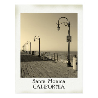 Beautiful Vintage Santa Monica Postcard! Postcard