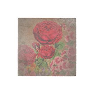 Beautiful Vintage Textured Rose Stone Magnet