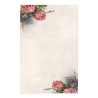 Beautiful Vintage Victorian Roses Stationery