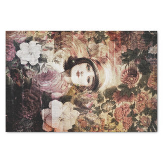 Beautiful Vintage Woman Flower Abstract Tissue Paper