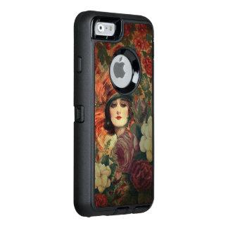 Beautiful Vintage Woman Flower Garden OtterBox iPhone 6/6s Case