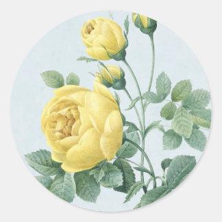 Beautiful vintage yellow rose sticker