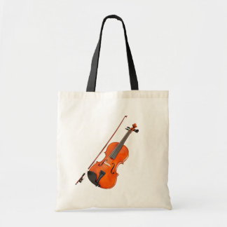 Beautiful Viola Musical Instrument Budget Tote Bag
