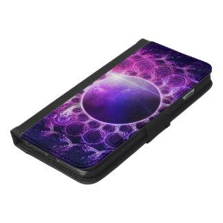 Beautiful Violet Planet Deep Dream Fractal Mandala iPhone 6/6s Plus Wallet Case