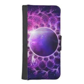 Beautiful Violet Planet Deep Dream Fractal Mandala iPhone SE/5/5s Wallet Case