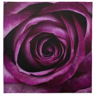 Beautiful violet rose printed napkin
