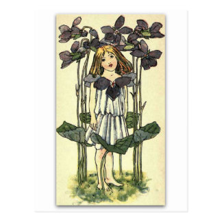 Beautiful Violets by NELLIE BENSON Postcard