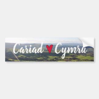 Beautiful Wales Hill View Landscape Welsh Horizon Bumper Sticker
