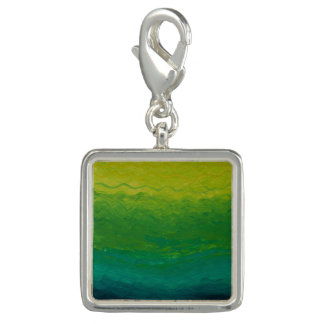 Beautiful Water - Green Silver Charm for Bracelet