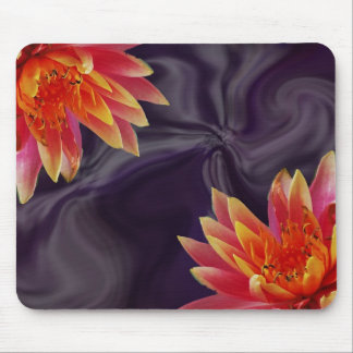 Beautiful Water Lily with Purple Swirl Mouse Pad