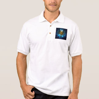 Beautiful water play with  light effects polo shirt