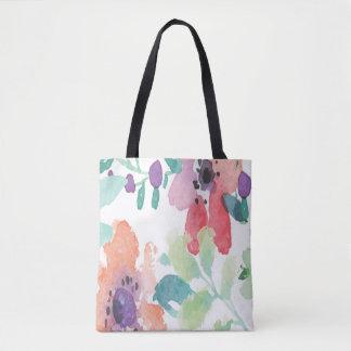 Beautiful Watercolor Painted Flowers | Tote Bag