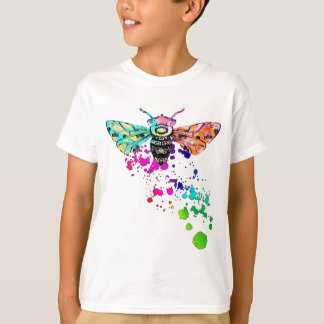 Beautiful Watercolor Rainbow HoneyBee T-Shirt