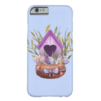 Beautiful  watercolor spring nest barely there iPhone 6 case
