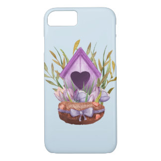 Beautiful  watercolor spring nest iPhone 8/7 case