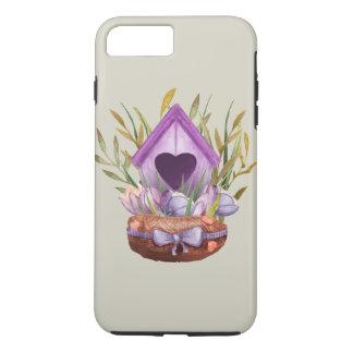 Beautiful  watercolor spring nest iPhone 8 plus/7 plus case