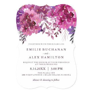Beautiful Watercolour Hydrangeas and Botanicals Card