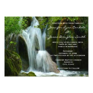 Beautiful Waterfall Nature Wedding Invitations