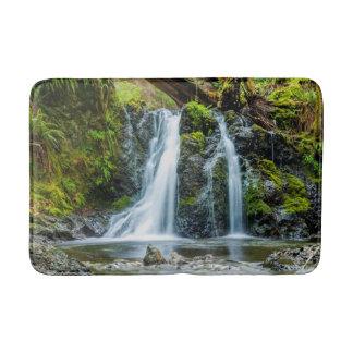 Beautiful Waterfall Photo, River, Forest Bath Mat