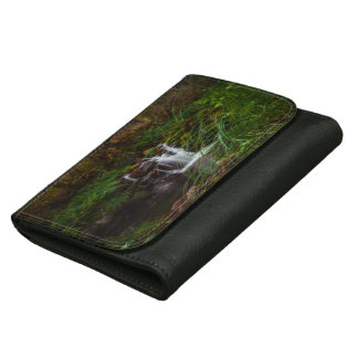 Beautiful Waterfalls Nature Scene Leather Wallet