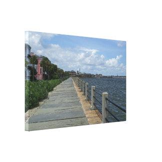 Beautiful Waterfront Walkway Canvas Print