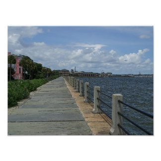 Beautiful Waterfront Walkway Poster