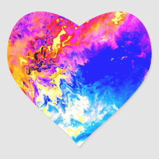 Beautiful weather heart sticker