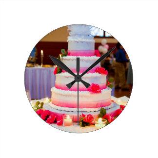 Beautiful Wedding Cake Wallclocks