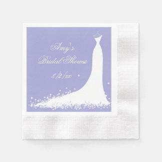 Beautiful Wedding Gown, Bridal Shower, Disposable Serviette