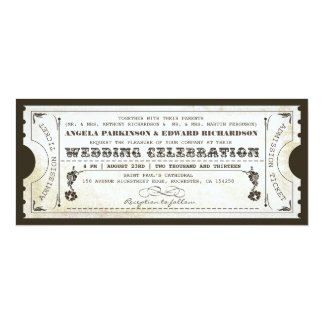 beautiful wedding vintage ticket invitations