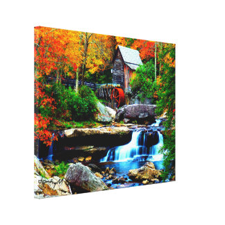 Beautiful West Virginia Mill Painting by donnyM Canvas Print