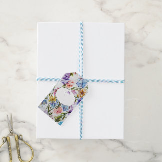 BEAUTIFUL WHIMSICAL FLOWER PATTERN GIFT TAGS