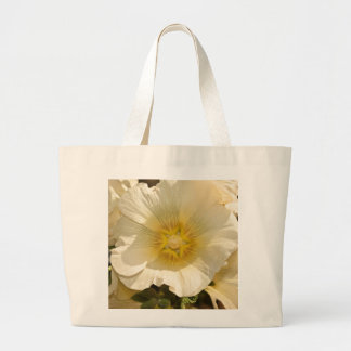 Beautiful white and yellow flower canvas bag