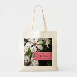 Beautiful White Blossom Wedding Tote Bag