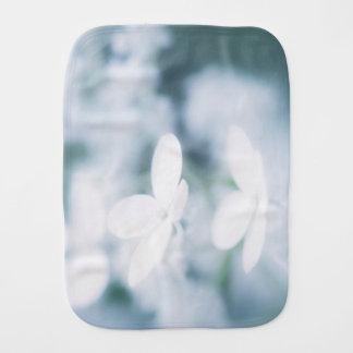Beautiful white blossoms burp cloth