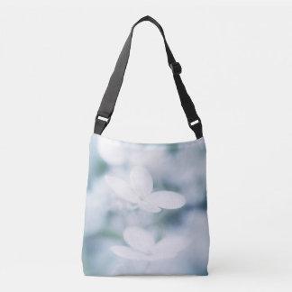 Beautiful white blossoms crossbody bag