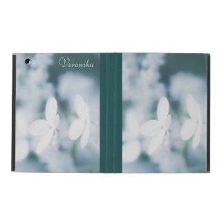 Beautiful white blossoms iPad folio case