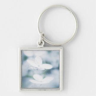 Beautiful white blossoms key ring