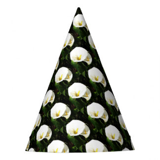 Beautiful White Calla Flowers In Bright Sunlight Party Hat