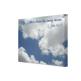 Beautiful White Clouds Heaven Bible Verse Canvas Print