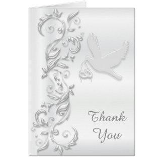 Beautiful White Dove Thank You Card