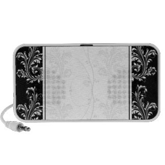 Beautiful white floral design speaker
