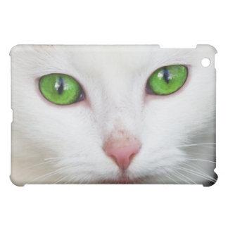 Beautiful white kitty cat kitten animal lover iPad mini covers