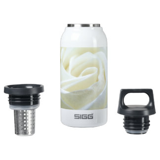 Beautiful White Rose 0.3 Litre Insulated SIGG Thermos Water Bottle