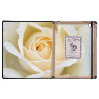 Beautiful White Rose iPad Folio Case