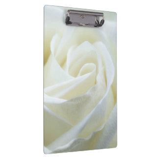 Beautiful White Rose Clipboard